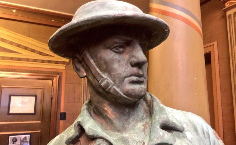 Rededication Doughboy Statue by Yankee Stadium Sept 28